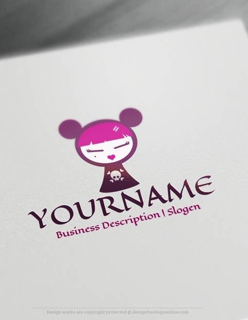 Create-a-Logo-Free-Fashion-Girl-Logo-Templates