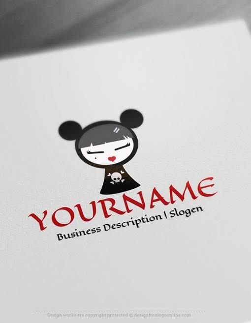 Create-a-Logo-Free---Fashion-Girl-Logo-Templates