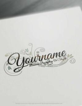 Create a Logo Free - Online Floral Logo Templates