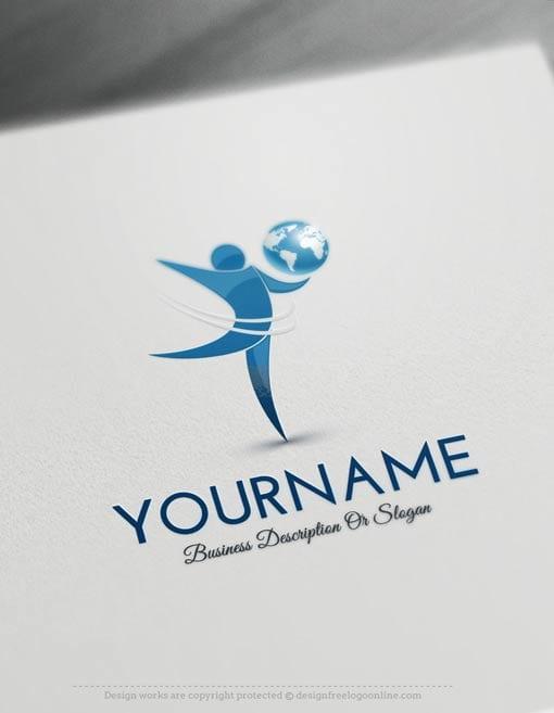 Create-a-Logo-Free---Globe-people-Logo-Templates