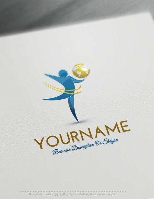 Create-a-Logo-Free--Globe-people-Logo-Templates