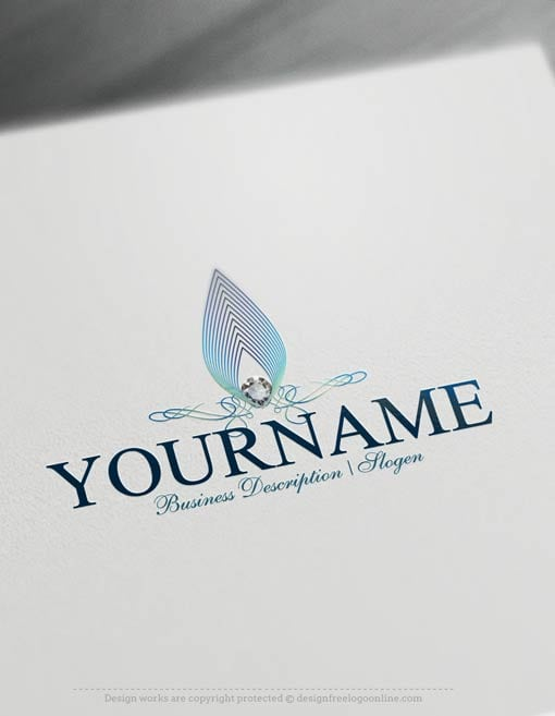 Create a Jewelry Logo Free. Ready made Online Jewelry Logo Templates decorated with Diamond and gold Jewelry logo image.