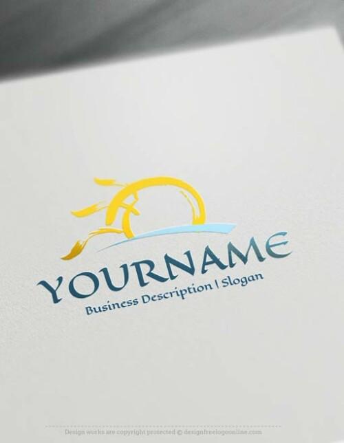 Create a Logo Free - Online Design Sun Logo Templates
