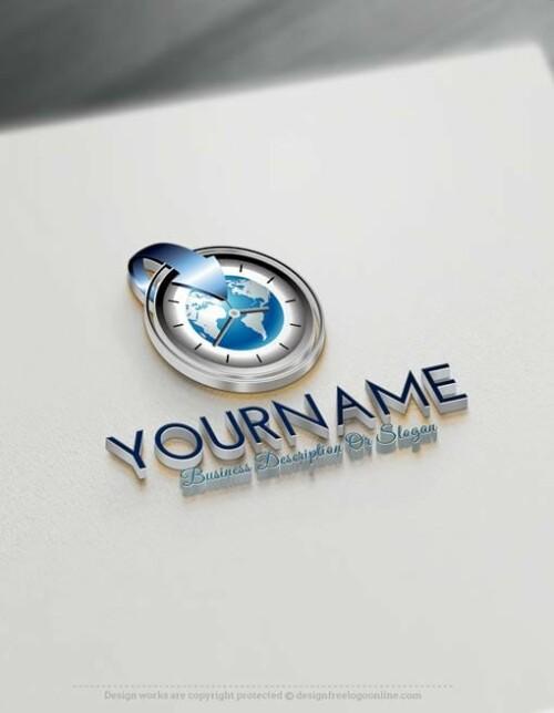 Create-a-Logo-Free---Time-Globe-Logo-Templates