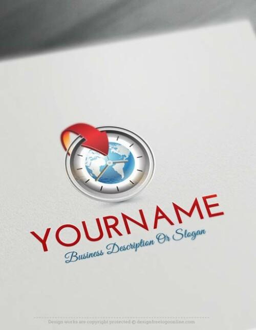 Create-a-Logo-Free-Time-Globe-Logo-Templates