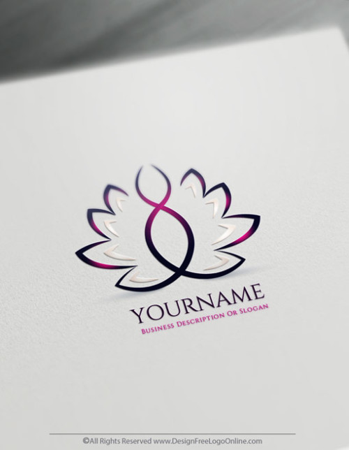 Create a Lotus Logo For Free With The Online Logo Maker