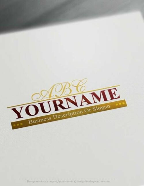 Create a logo Free - Online Alphabet Logo Templates