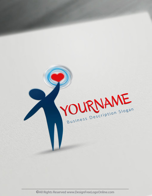 Create your own human heart logo free without registration