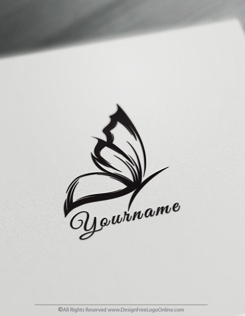 Design Free Logo Online brings you the best simple Butterfly Logo Maker.