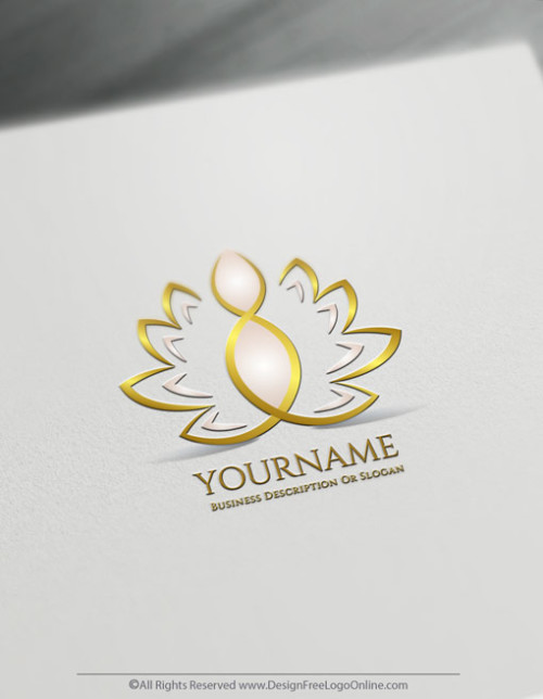 Create a Golden Lotus Logo For Free With The Online Logo Maker