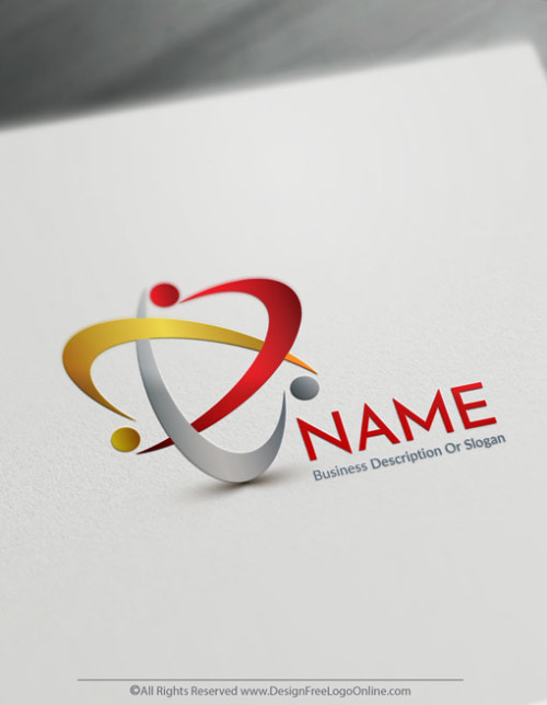Create a Logo Free - Gold Group of people Logo Templates