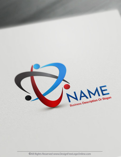 Create a Logo Free - Blue Group of people Logo Templates