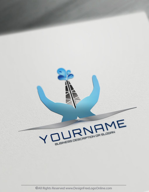 Select a free logo design template and create Industrial water logo online