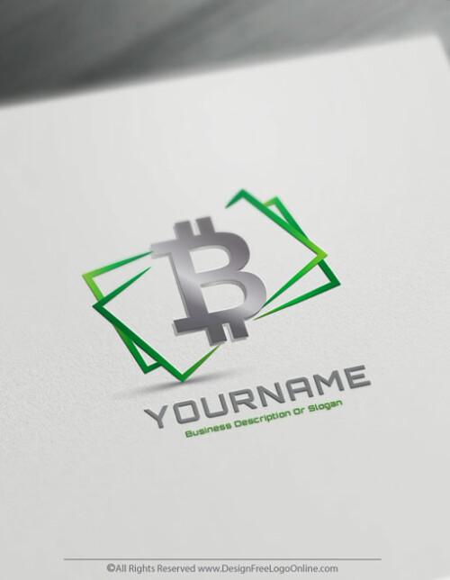 Free Online Money Logo Maker - Money Currency symbol Bitcoin symbol₿
