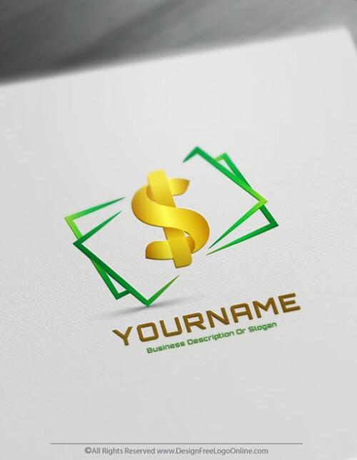 Free Online Money Logo Maker - Money Currency symbol United States Dollar symbol $