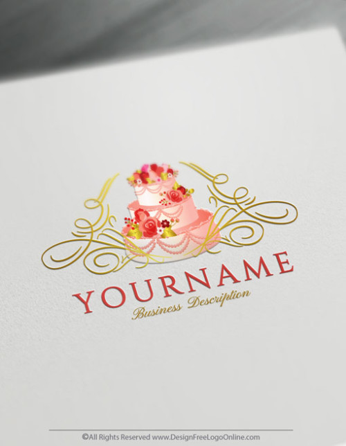 Online Wedding Cake Logo - Design a luxury Cake Logo For Free