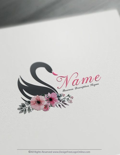 Black Swan Logo Making made simple with Free Logo Creator