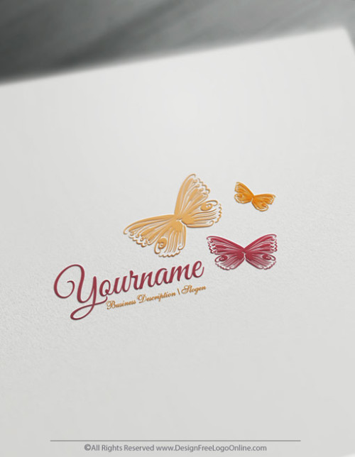 Pastel butterfly symbol generator