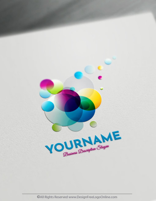 Abstract Logo Maker - Create Colorful Bubbles Logo Design