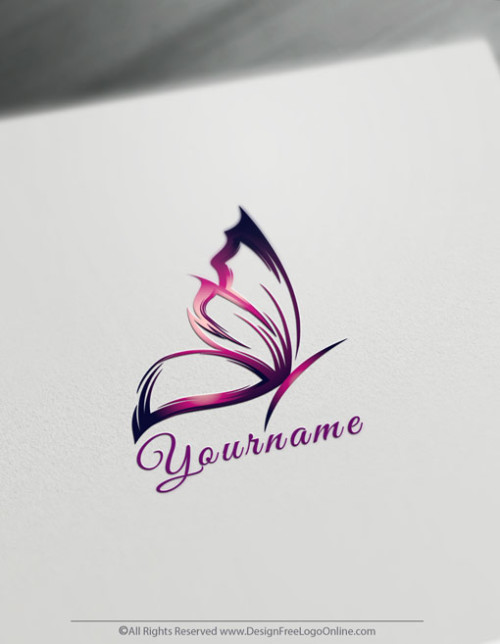 Design Free Logo Online brings you the best Pink Butterfly Logo Maker