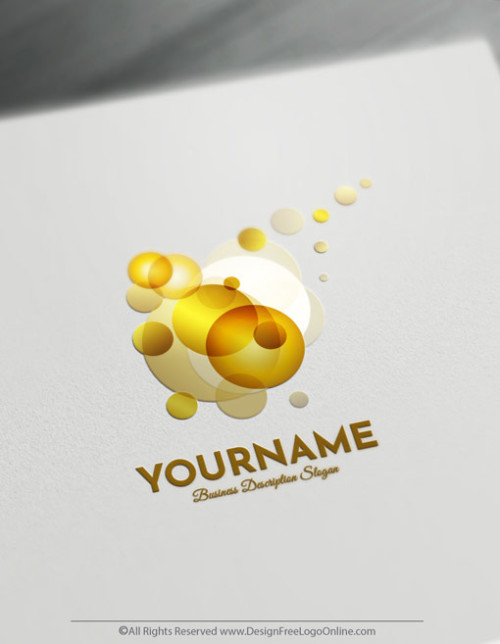 Abstract Logo Maker - Create Gold Bubbles Logo Design