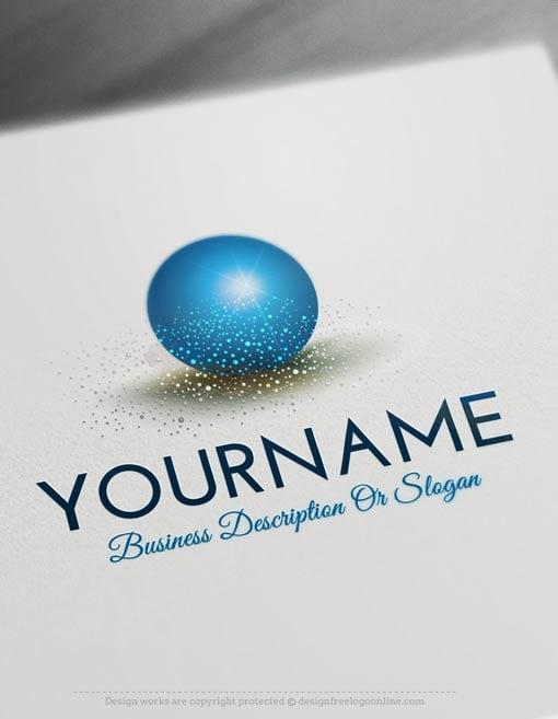 Create a Logo Free - Glamours 3D Ball Logo Templates