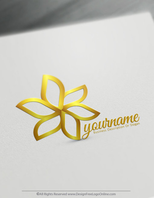 Design Your Own Gold Flower logo ideas with Free Logo Maker Online.