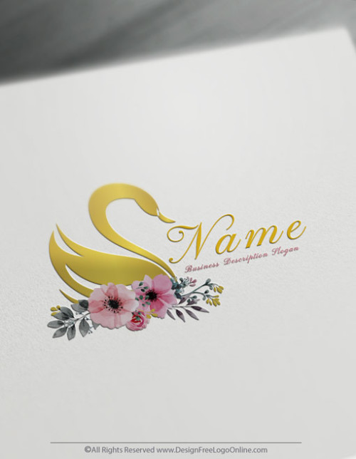 Gold Swan Logo Making made simple with Free Logo Creator
