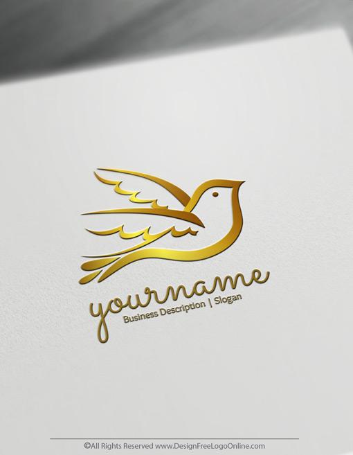 gold dove logo design maker