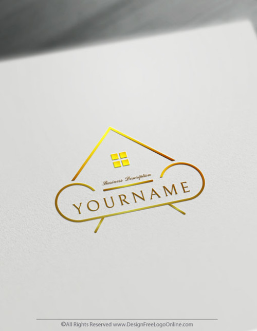 Golder minimalist interior designer logos