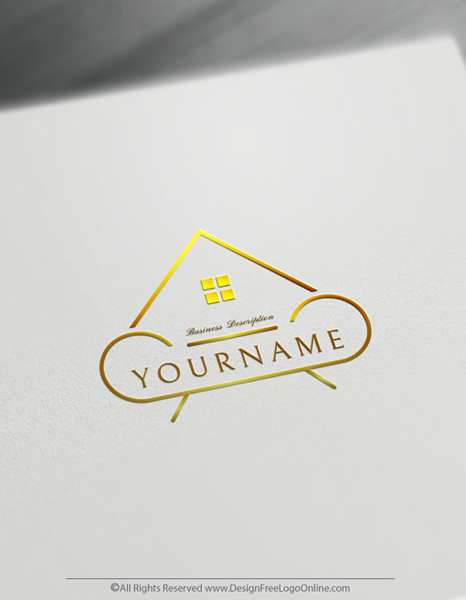 Create House Decor Logos Free Interior Design Logo Templates