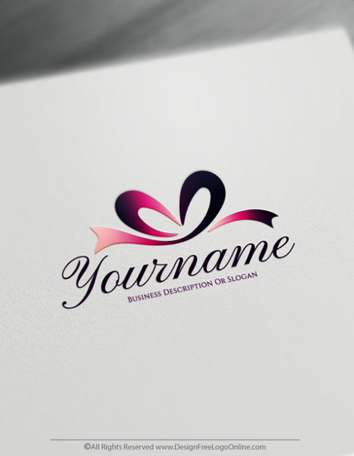 Create Free Logotype Using Premium Ribbon Gift Logo Templates
