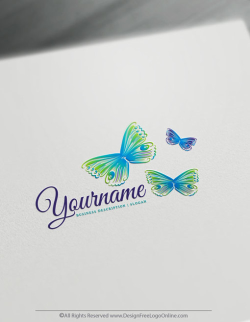 customize your new butterflies logo branding