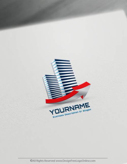 Create a Logo with the Real Estate Logo Maker and 3D Towers Logo Templates