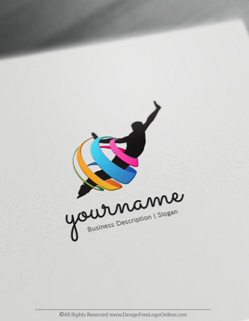 Community logos - Modern Flying Human Logo Templates
