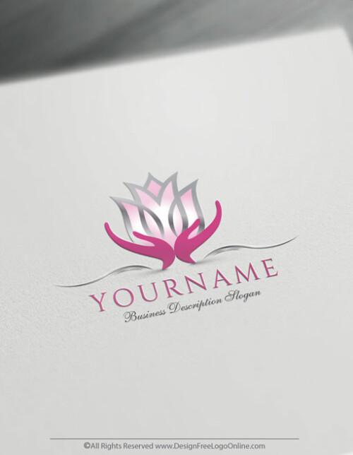 Pink Tulip logo maker online free