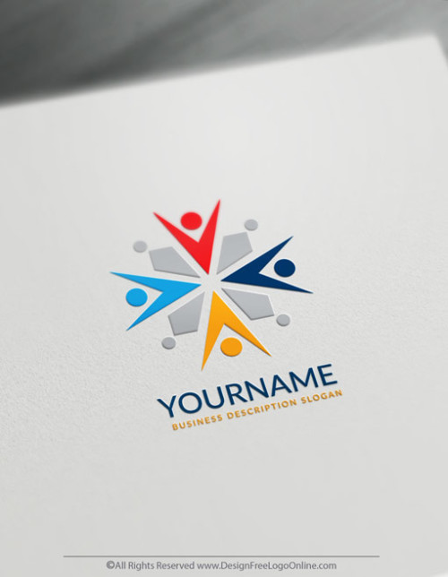 Easily create a group Logo template with the Abstract Logo Maker. Download your logo today