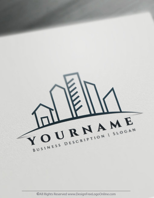 Customize your own Simple Urban City logo with the free Real Estate logo maker.