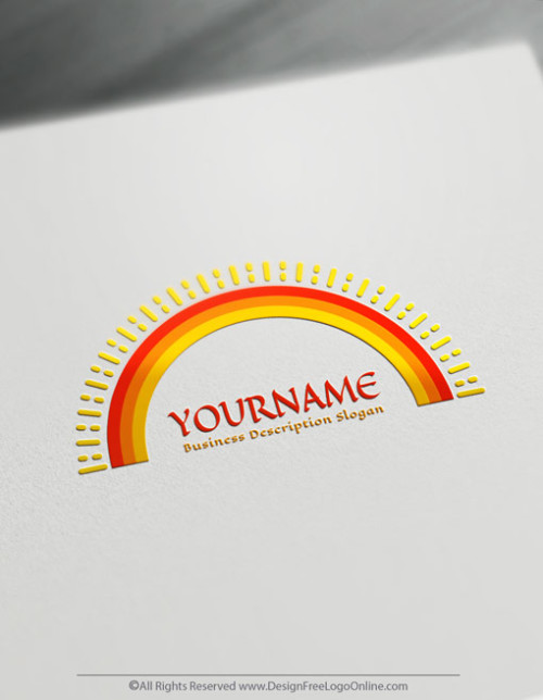 Instantly create a colorful sun Logos