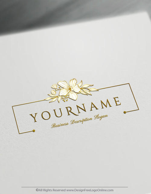 Gold Floral Design Logo Makin Done Online With Icon Maker
