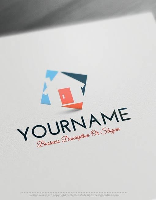 Create A Logo Free House Real Estate Logo Templates