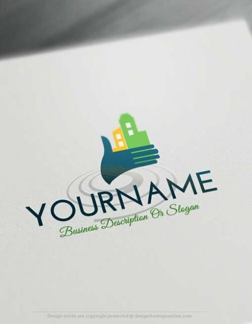 00333-Free-logo-maker--house-hand-Logo-Templates