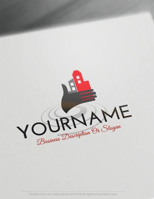 00333-Free-logo-maker---house-hand-Logo-Templates