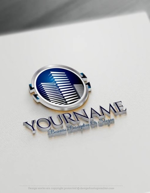 customize this Buildings logo template brand yourself with our free Real Estate logo maker.
