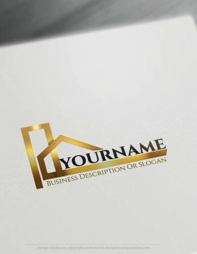 Create a Logo Free - Construction logo templates. free logo maker. Customize This logo with our free logo maker