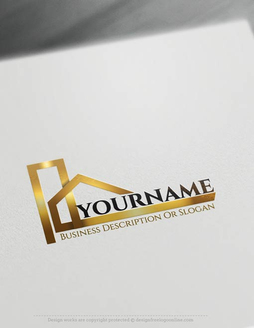 Real estate logos construction logo designs and realty for Free online building design