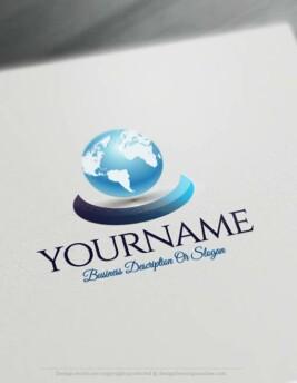 00337-Free-logo-maker-3D-Globe-Logo-Templates