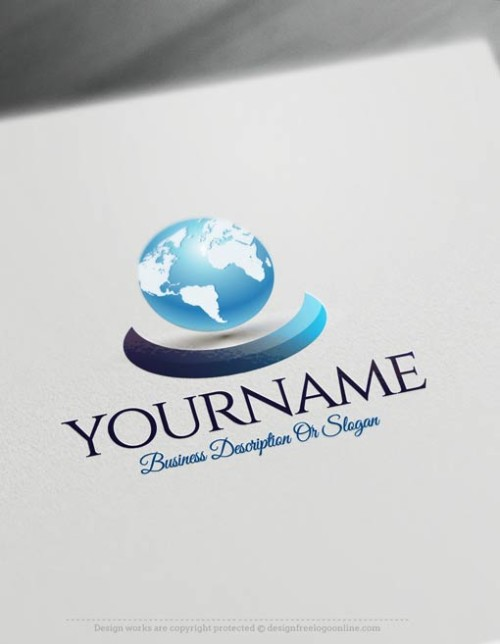 Customize This Ready made Online globe Logo Template with our free logo maker