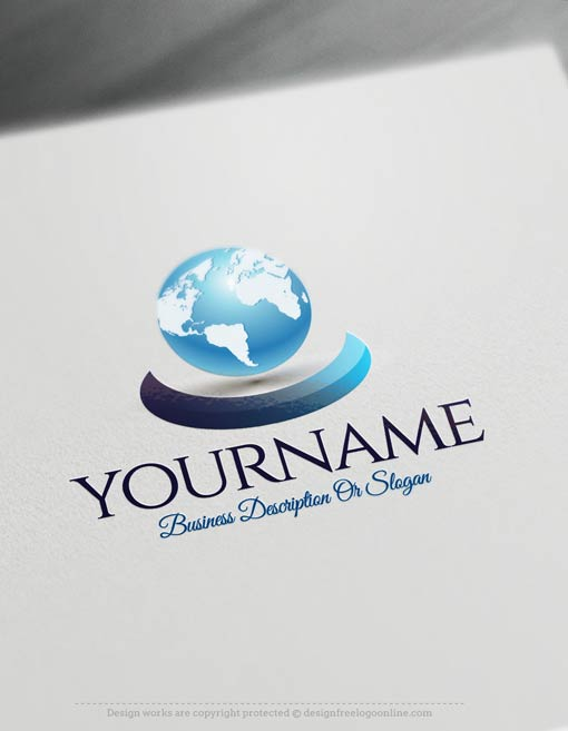 Create a logo free 3d globe logo templates for Make 3d design online