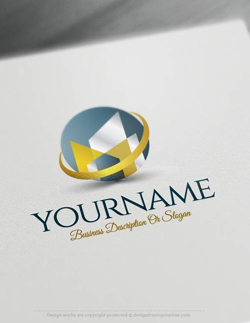 Create a logo free modern buildings logo template - Business name for interior design company ...